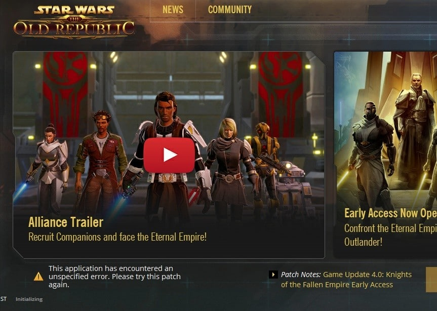 If you have SWTOR Launcher Issues, check for solution here - VULKK.com