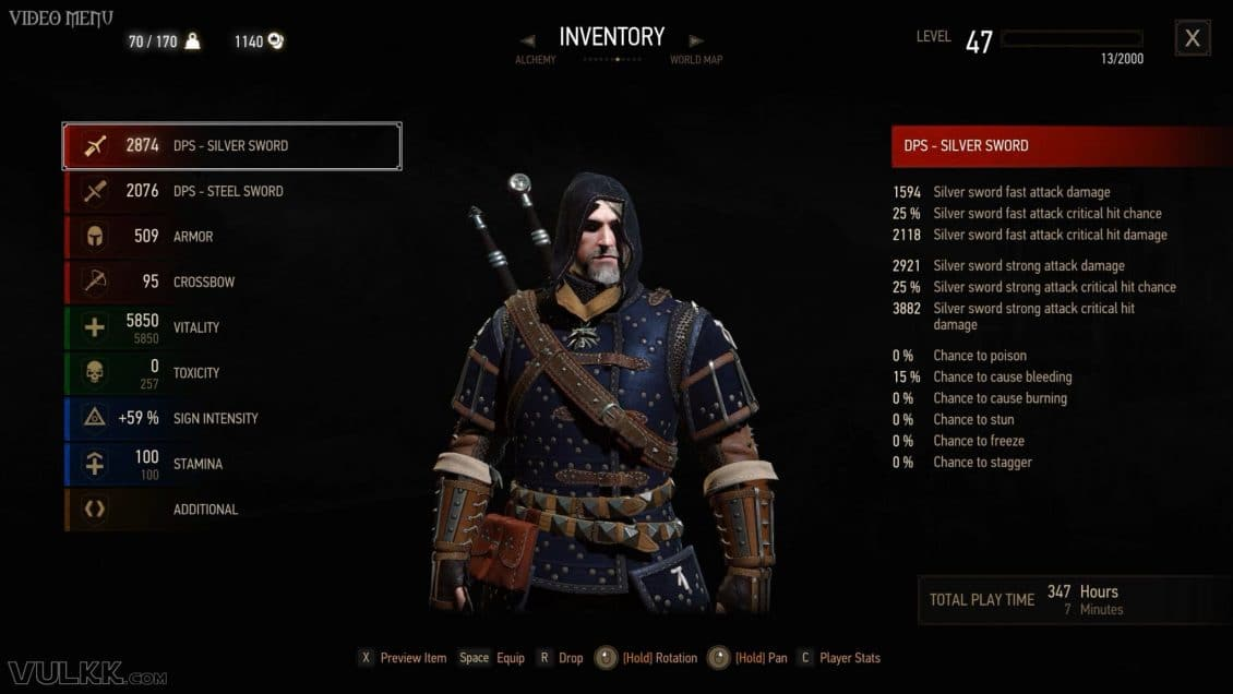 Witcher 3 Grandmaster Feline Gear Guide Blood And Wine Armor