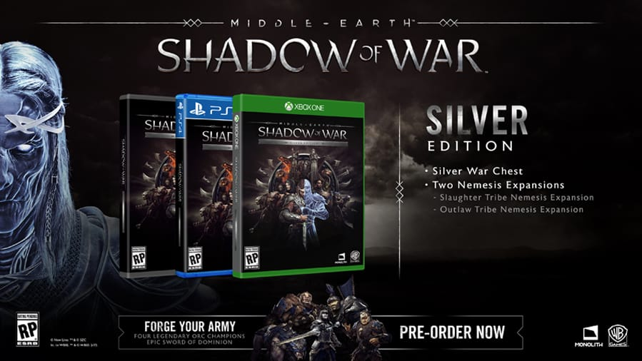 shadow of war gold edition content