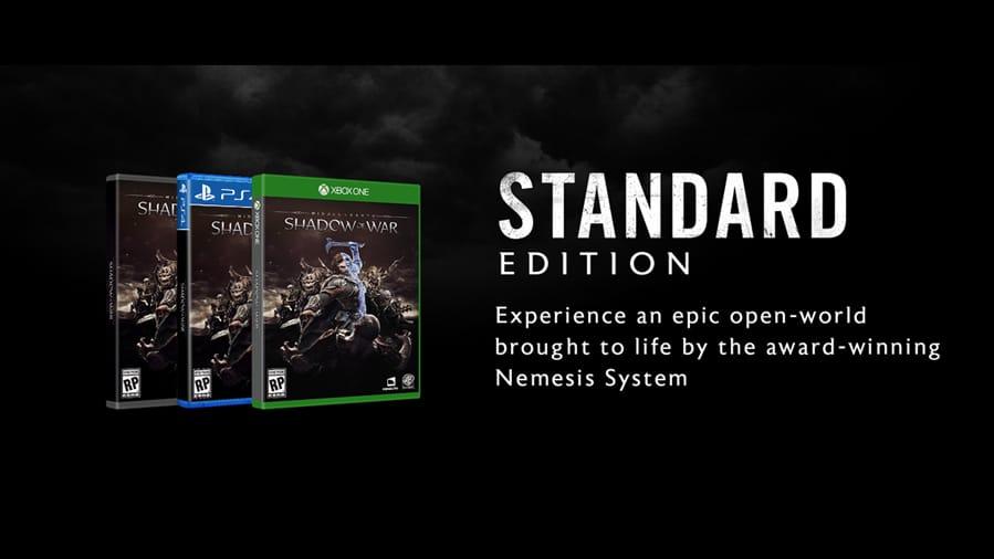 Shadow of War Editions: STANDARD vs SILVER vs GOLD vs