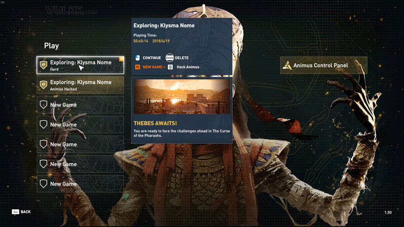 Assassin's Creed Origins: Animus Control Panel Overview - VULKK com