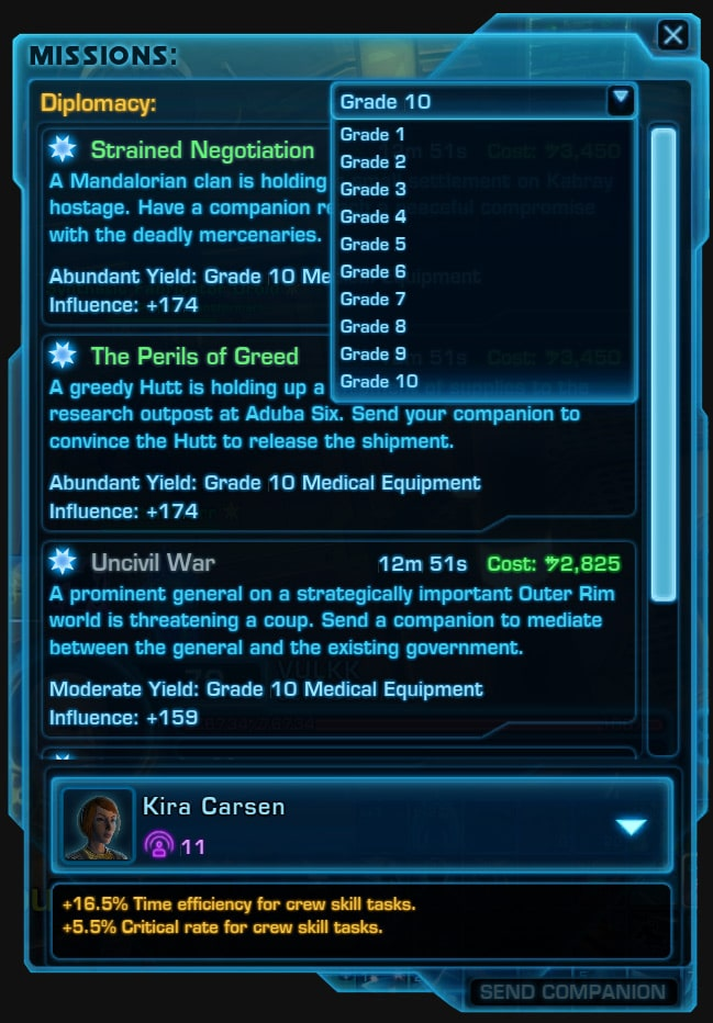 SWTOR Crew Skills and Crafting: A Beginners Guide - VULKK com