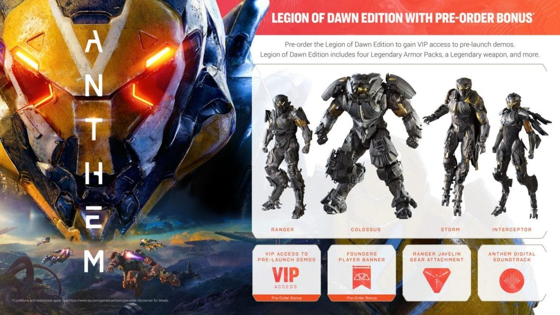 ANTHEM Editions Differences, Bonuses, PC System Requirements