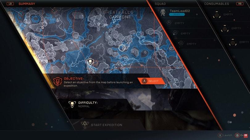 anthem game menu ile ilgili görsel sonucu