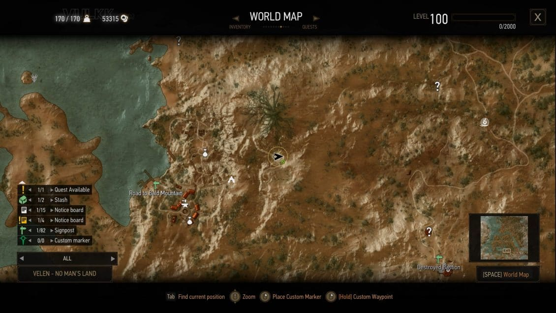 WITCHER 3 All Velen and Novigrad Places of Power Locations