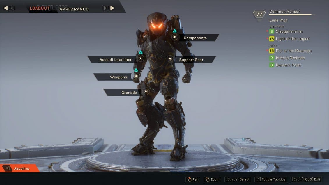 ANTHEM Loadouts and Gearing Guide (Updated) - VULKK com