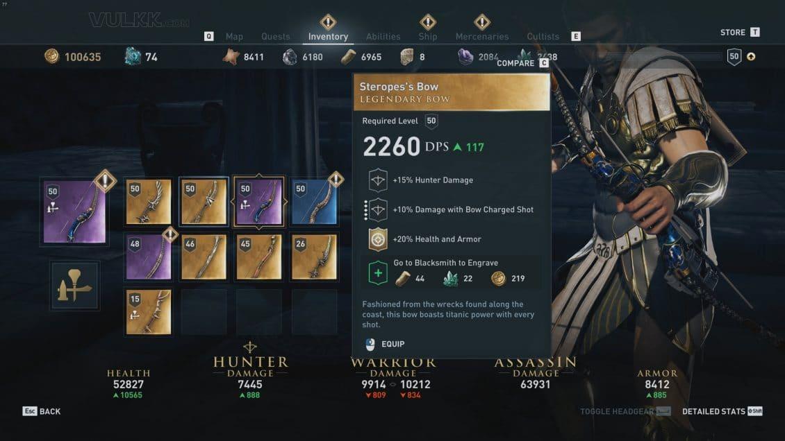 Ac Odyssey Legendary Weapons And Armor Sets Guide Vulkk Com