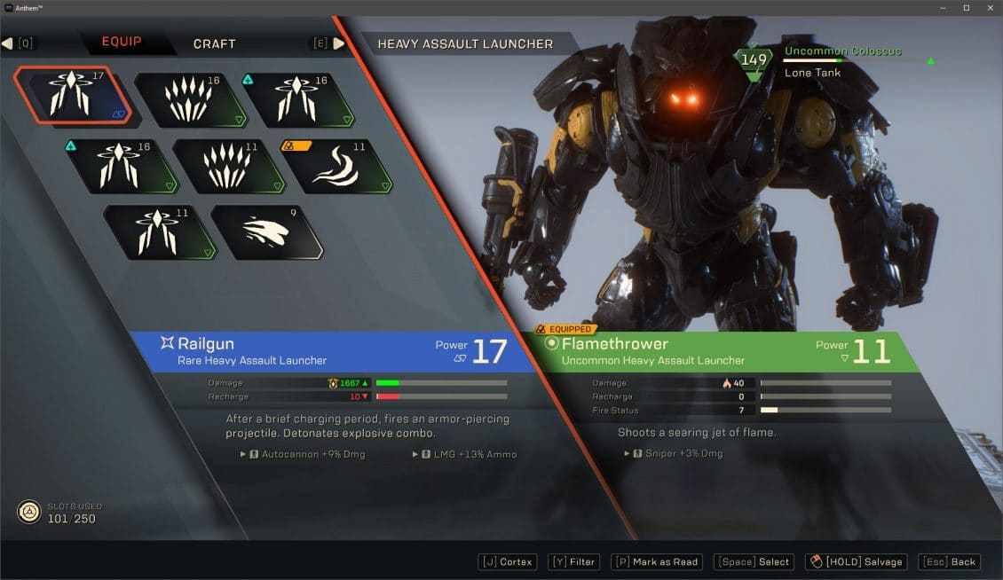 ANTHEM Loadouts and Gearing Guide (Updated March 2019) - VULKK com