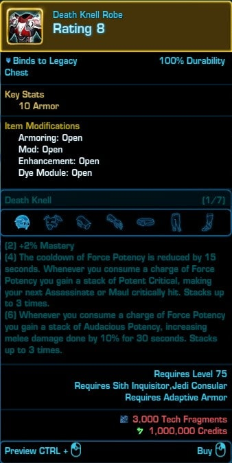 SWTOR 6 0 Serenity Shadow PvE Guide by Mebrithiel - VULKK com