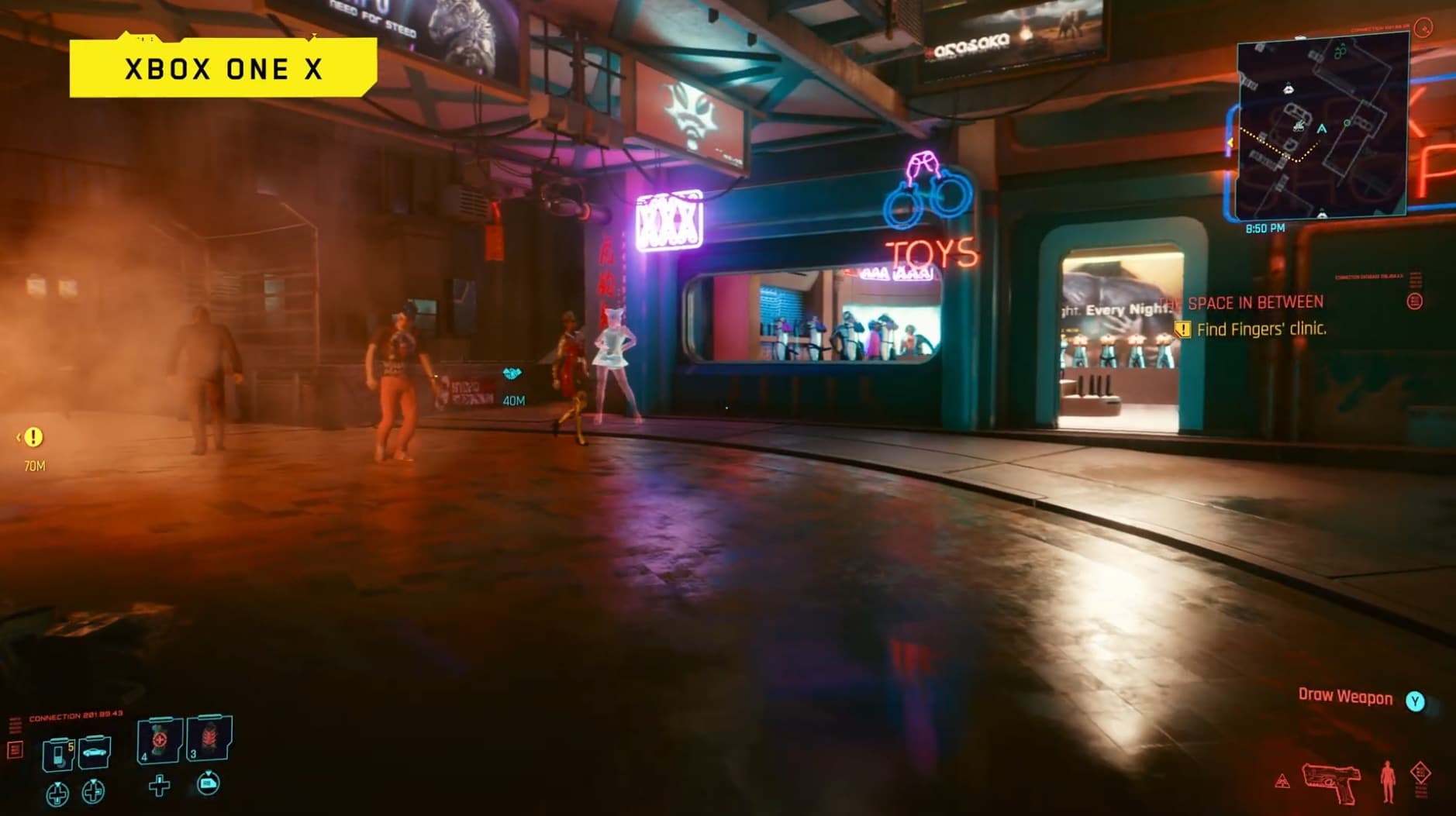 Cyberpunk 2077 on Xbox One X